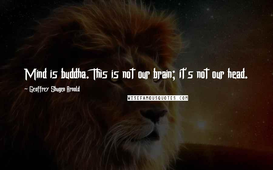 Geoffrey Shugen Arnold quotes: Mind is buddha. This is not our brain; it's not our head.