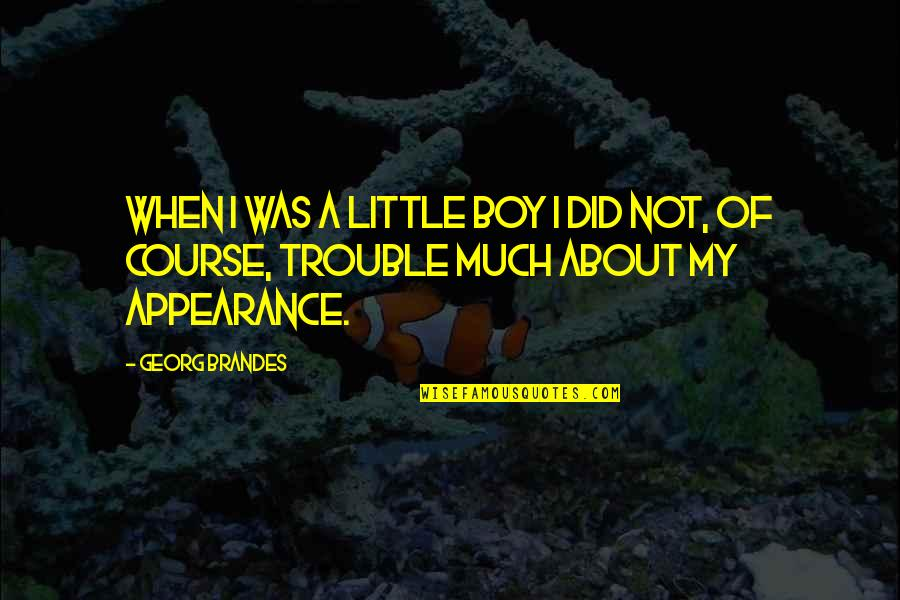Georg Brandes Quotes By Georg Brandes: When I was a little boy I did