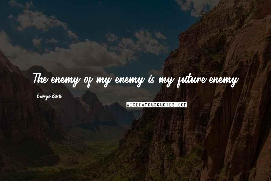 George Bush quotes: The enemy of my enemy is my future enemy
