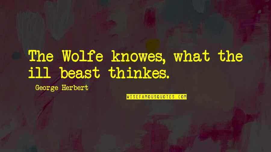 George Herbert Quotes By George Herbert: The Wolfe knowes, what the ill beast thinkes.