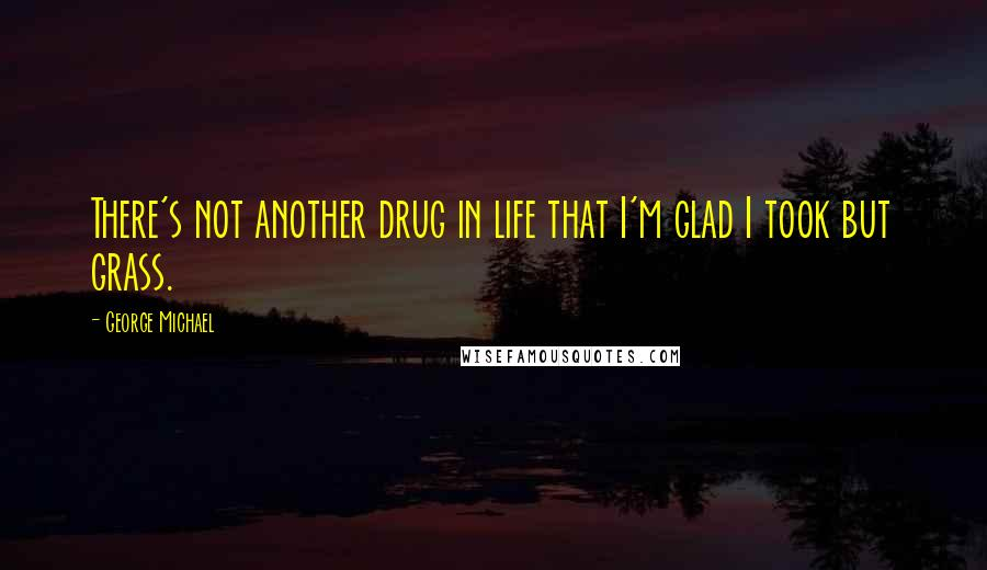 George Michael quotes: There's not another drug in life that I'm glad I took but grass.