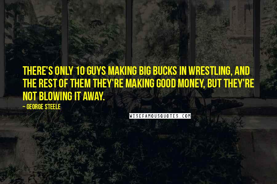 George Steele quotes: There's only 10 guys making big bucks in wrestling, and the rest of them they're making good money, but they're not blowing it away.