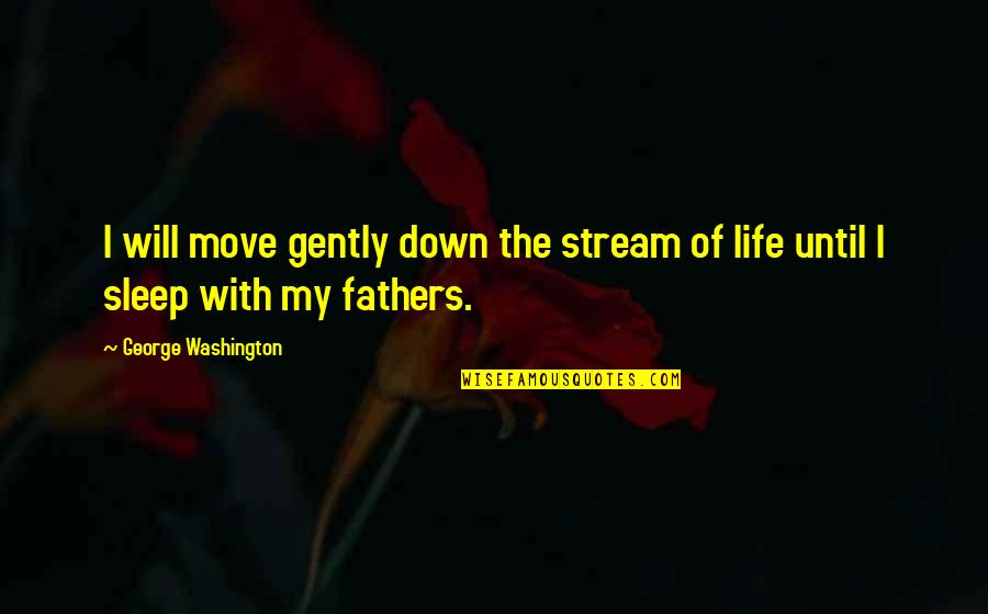 George Washington Quotes By George Washington: I will move gently down the stream of