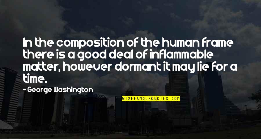 George Washington Quotes By George Washington: In the composition of the human frame there
