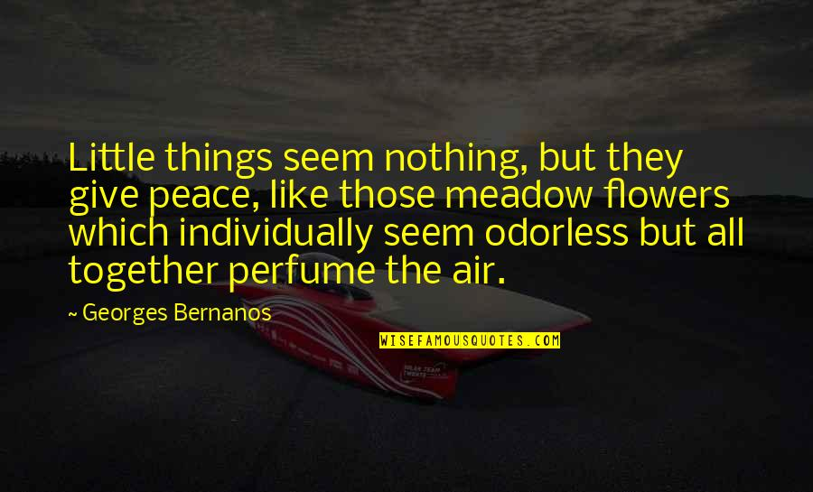 Georges Bernanos Quotes By Georges Bernanos: Little things seem nothing, but they give peace,