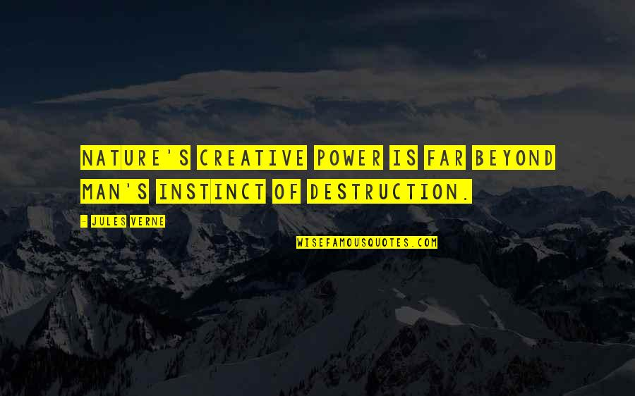 Georges Khabbaz Quotes By Jules Verne: Nature's creative power is far beyond man's instinct
