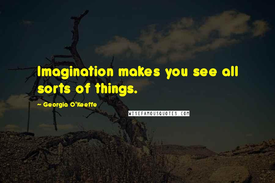 Georgia O'Keeffe quotes: Imagination makes you see all sorts of things.