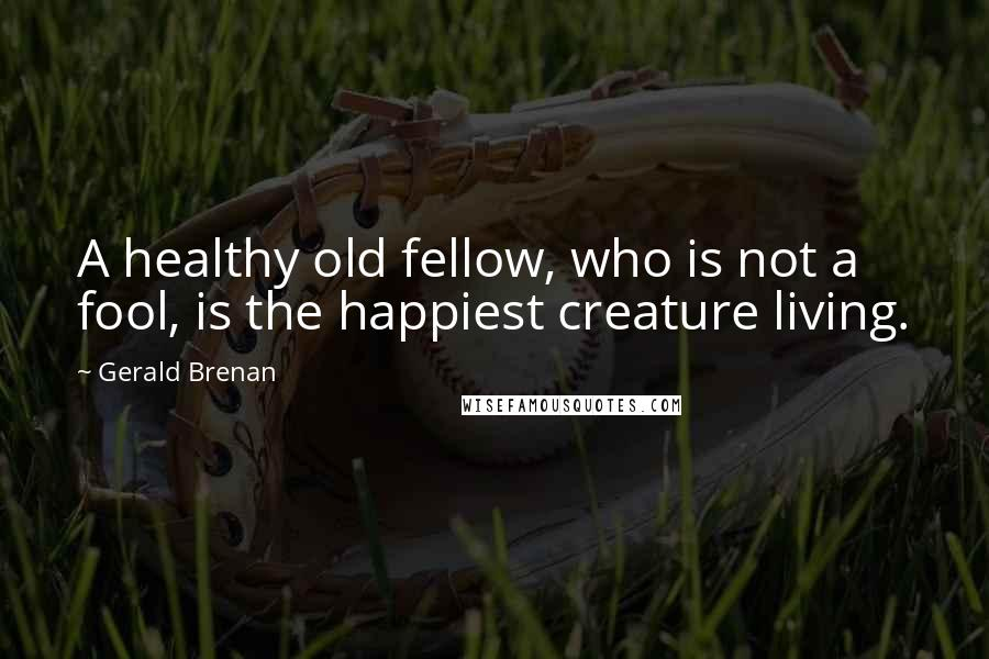 Gerald Brenan quotes: A healthy old fellow, who is not a fool, is the happiest creature living.