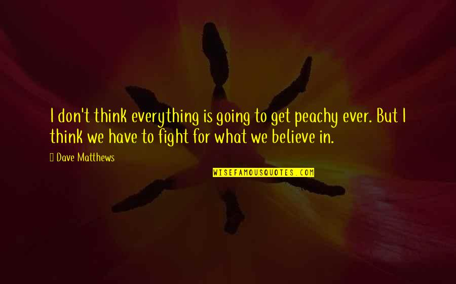 Get Up And Fight Quotes By Dave Matthews: I don't think everything is going to get