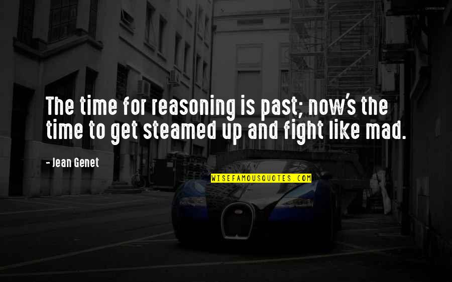 Get Up And Fight Quotes By Jean Genet: The time for reasoning is past; now's the