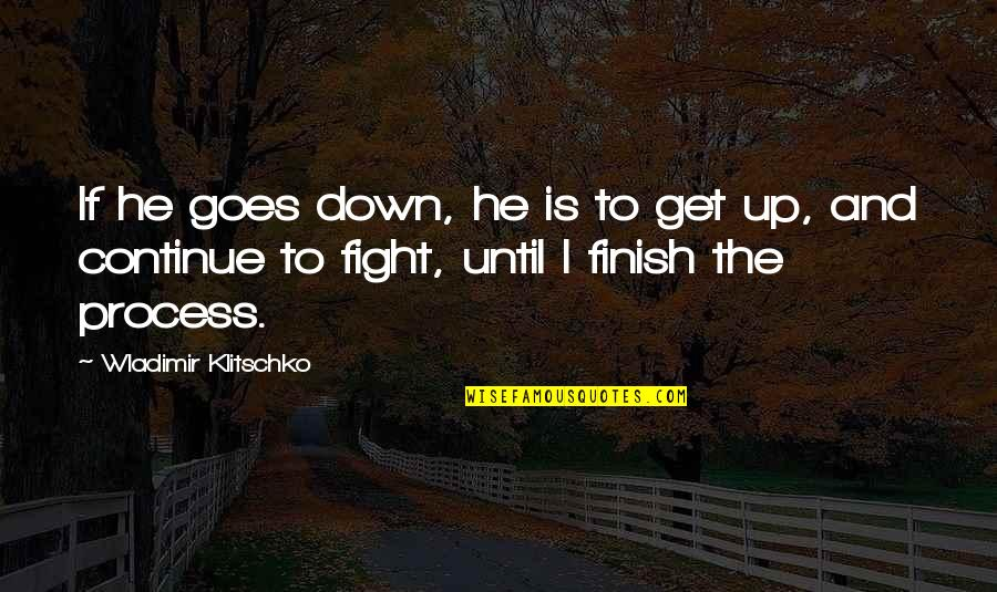 Get Up And Fight Quotes By Wladimir Klitschko: If he goes down, he is to get