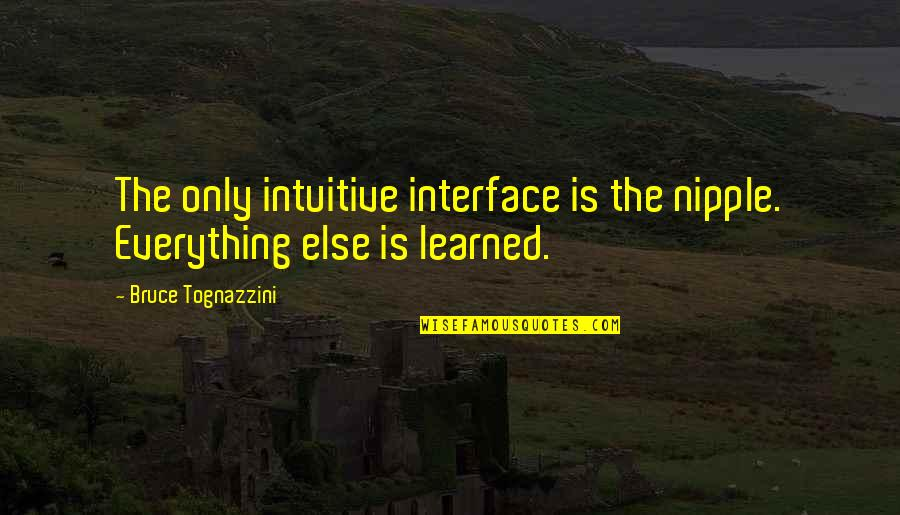 Getting Back Up Tumblr Quotes By Bruce Tognazzini: The only intuitive interface is the nipple. Everything