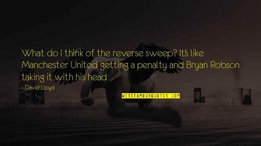 Getting Out Of Your Head Quotes By David Lloyd: What do I think of the reverse sweep?