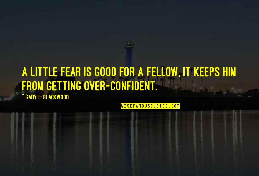 Getting Over Fear Quotes By Gary L. Blackwood: A little fear is good for a fellow,