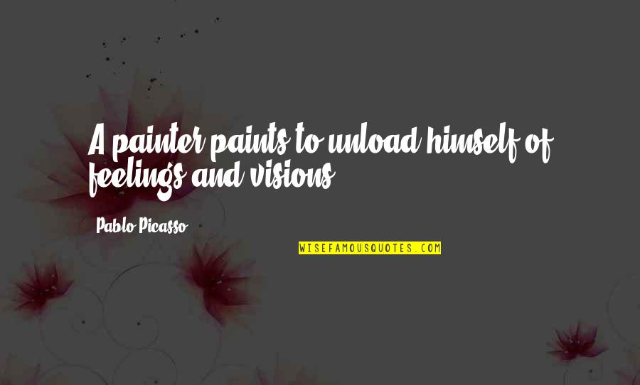 Getting Published Quotes By Pablo Picasso: A painter paints to unload himself of feelings