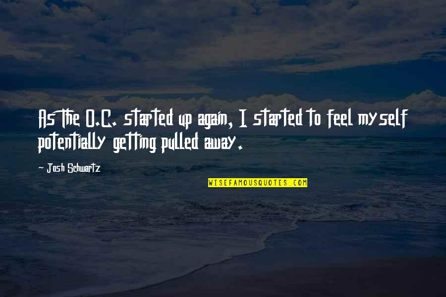 Getting Started Quotes By Josh Schwartz: As The O.C. started up again, I started