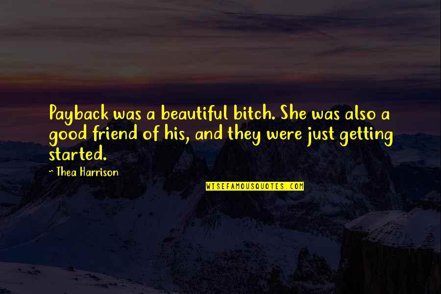 Getting Started Quotes By Thea Harrison: Payback was a beautiful bitch. She was also