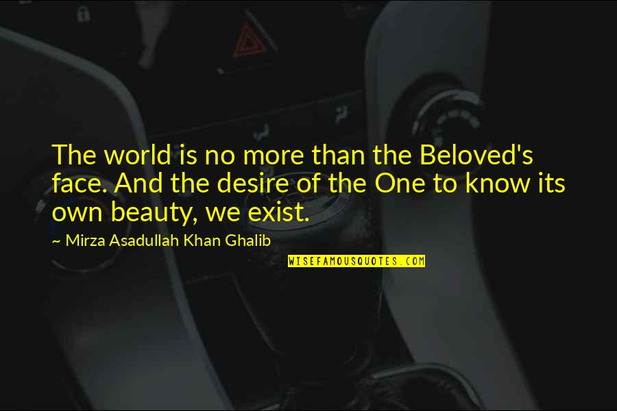 Ghalib Mirza Quotes By Mirza Asadullah Khan Ghalib: The world is no more than the Beloved's