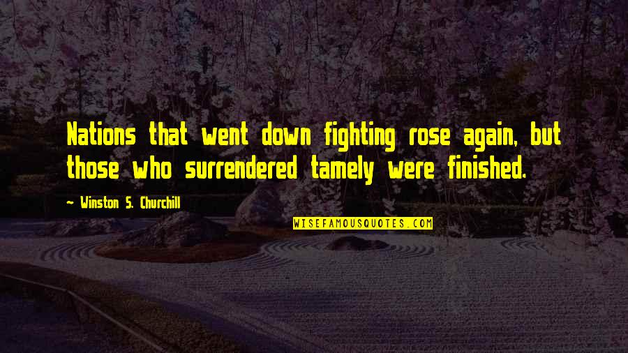 Ghalib Mirza Quotes By Winston S. Churchill: Nations that went down fighting rose again, but