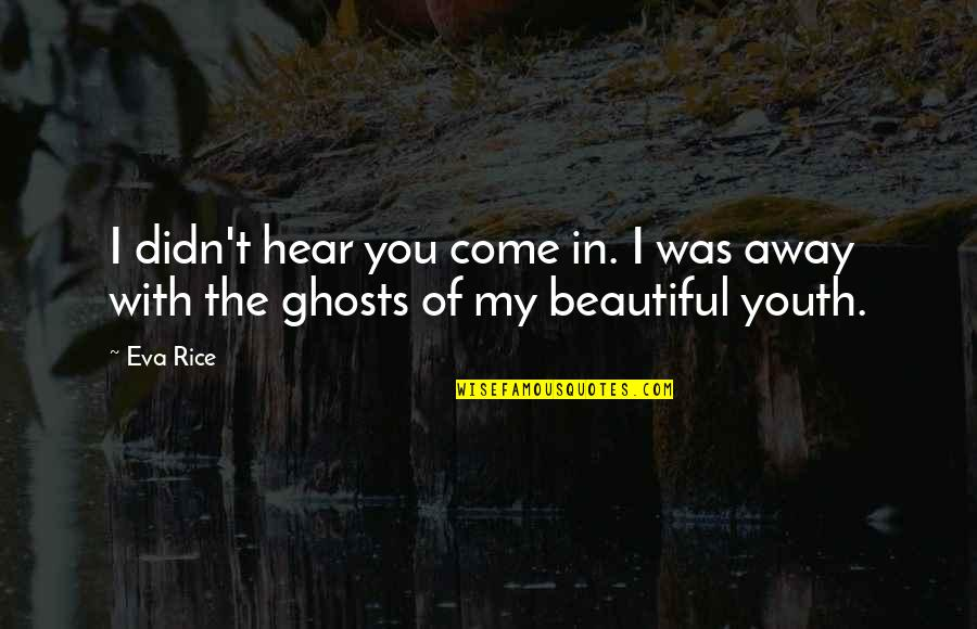 Ghosts Of The Past Quotes By Eva Rice: I didn't hear you come in. I was