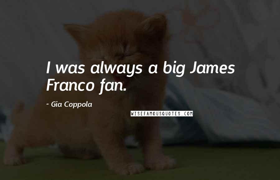 Gia Coppola quotes: I was always a big James Franco fan.