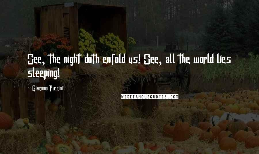 Giacomo Puccini quotes: See, the night doth enfold us! See, all the world lies sleeping!