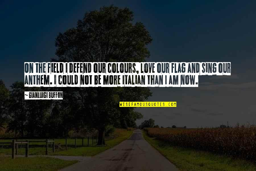 Gianluigi Buffon Quotes By Gianluigi Buffon: On the field I defend our colours, love
