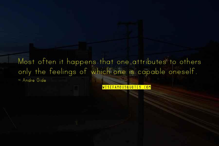 Gianni Rodari Quotes By Andre Gide: Most often it happens that one attributes to