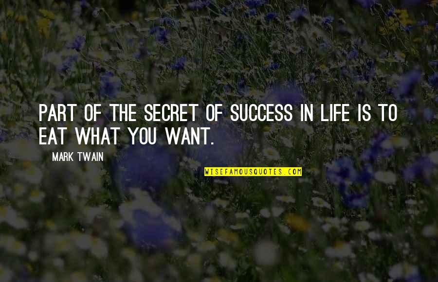 Giants Football Quotes By Mark Twain: Part of the secret of success in life
