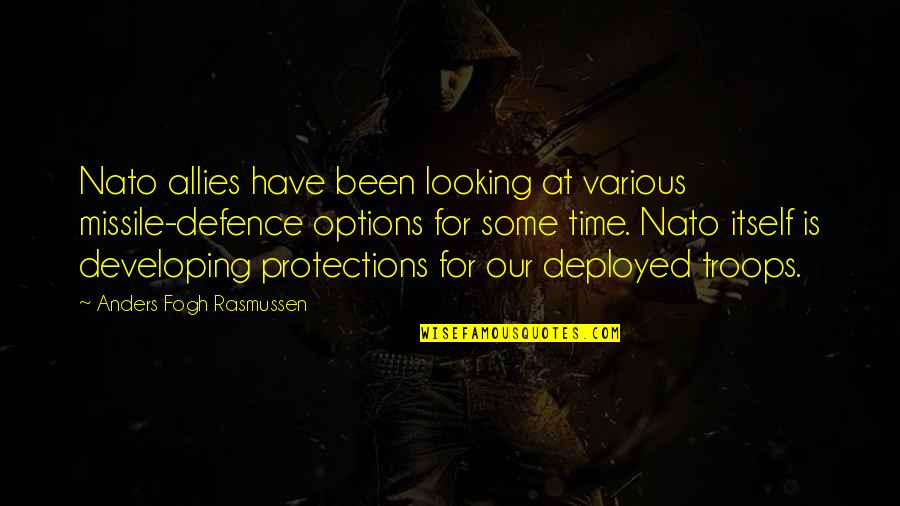 Gifted And Talented Child Quotes By Anders Fogh Rasmussen: Nato allies have been looking at various missile-defence