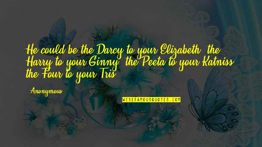 Ginny Quotes By Anonymous: He could be the Darcy to your Elizabeth,