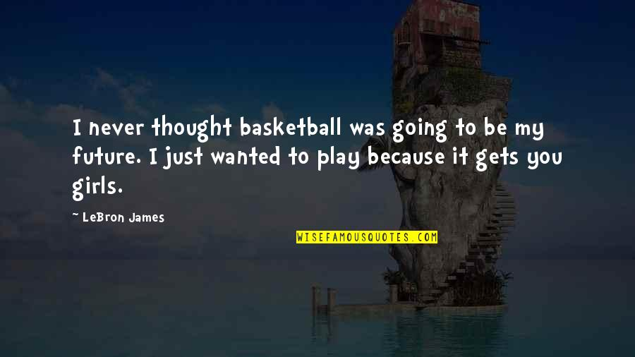 Girl And Basketball Quotes By LeBron James: I never thought basketball was going to be
