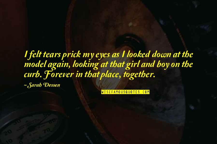 Girl Eyes Quotes By Sarah Dessen: I felt tears prick my eyes as I
