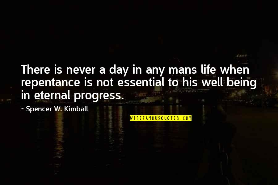 Give Generously Quotes By Spencer W. Kimball: There is never a day in any mans