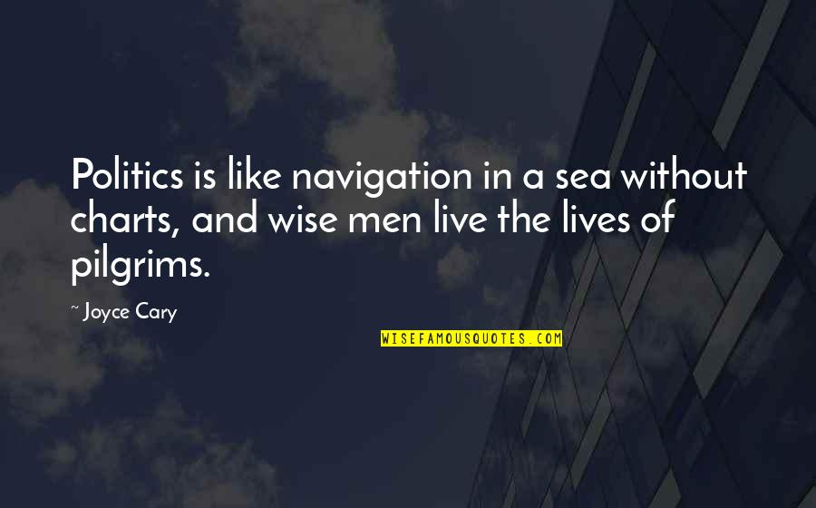 Give Up On Love Tagalog Quotes By Joyce Cary: Politics is like navigation in a sea without