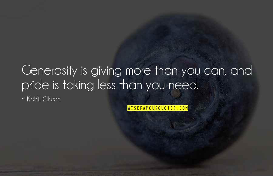 Giving And Generosity Quotes By Kahlil Gibran: Generosity is giving more than you can, and