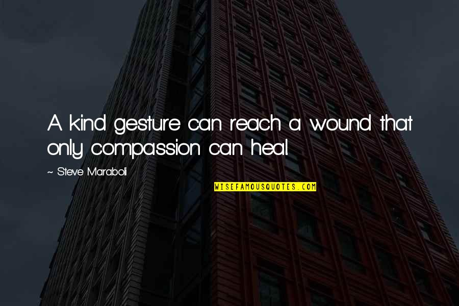 Giving And Generosity Quotes By Steve Maraboli: A kind gesture can reach a wound that