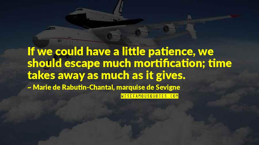 Giving It Time Quotes By Marie De Rabutin-Chantal, Marquise De Sevigne: If we could have a little patience, we
