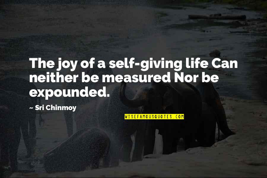 Giving Life Your Best Quotes By Sri Chinmoy: The joy of a self-giving life Can neither
