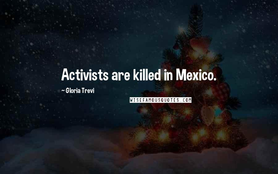 Gloria Trevi quotes: Activists are killed in Mexico.