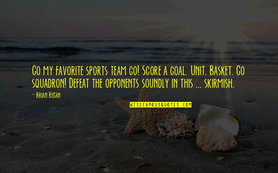 Go Team Quotes By Brian Regan: Go my favorite sports team go! Score a