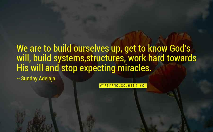 God And Hard Work Quotes By Sunday Adelaja: We are to build ourselves up, get to