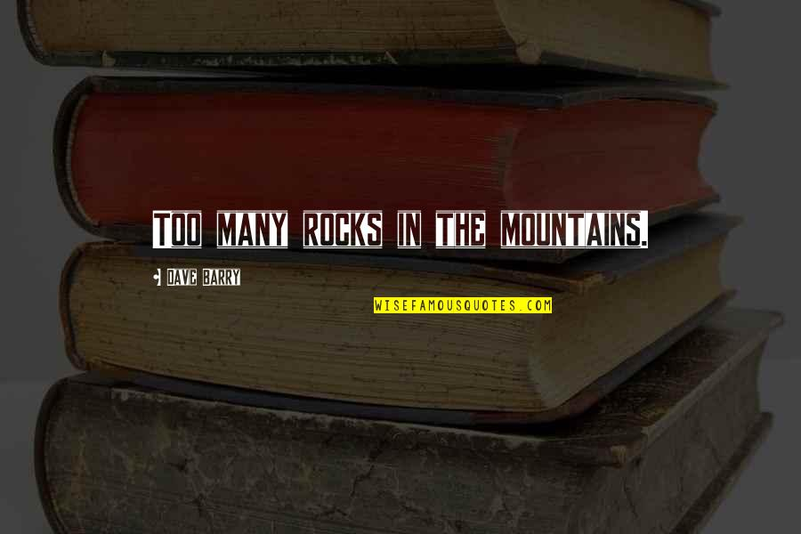 God And Mountains Quotes By Dave Barry: Too many rocks in the mountains.