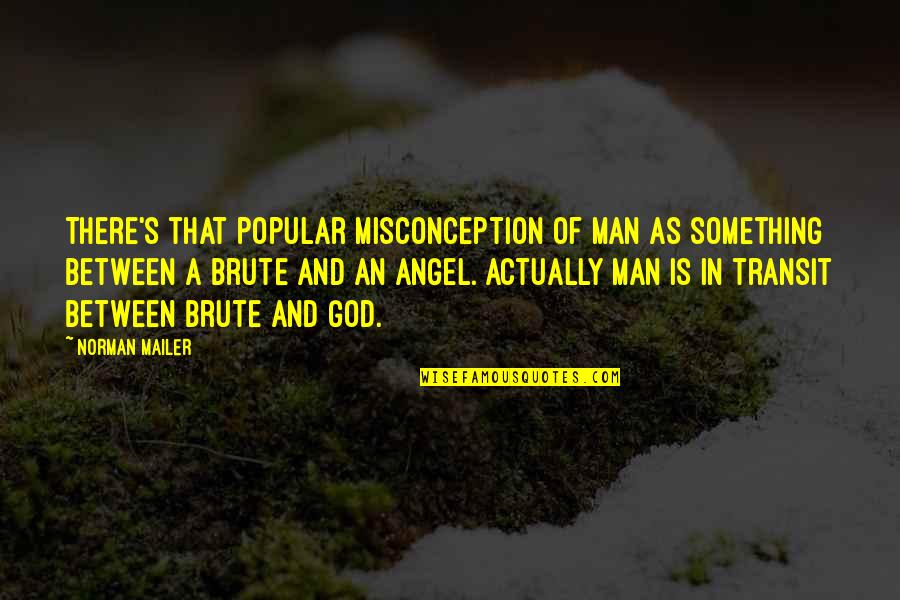 God Angel Quotes By Norman Mailer: There's that popular misconception of man as something