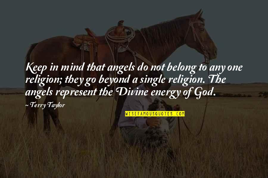 God Angel Quotes By Terry Taylor: Keep in mind that angels do not belong