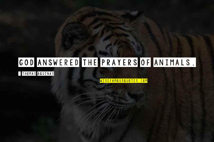 God Answered Prayer Quotes By Thomas Aquinas: God answered the prayers of animals.