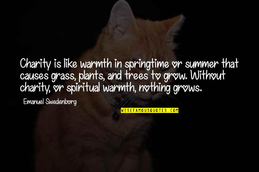 God Has Another Plan Quotes By Emanuel Swedenborg: Charity is like warmth in springtime or summer