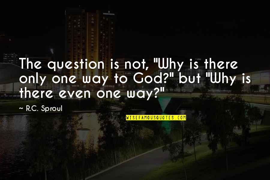 """God Is The Only Way Quotes By R.C. Sproul: The question is not, """"Why is there only"""
