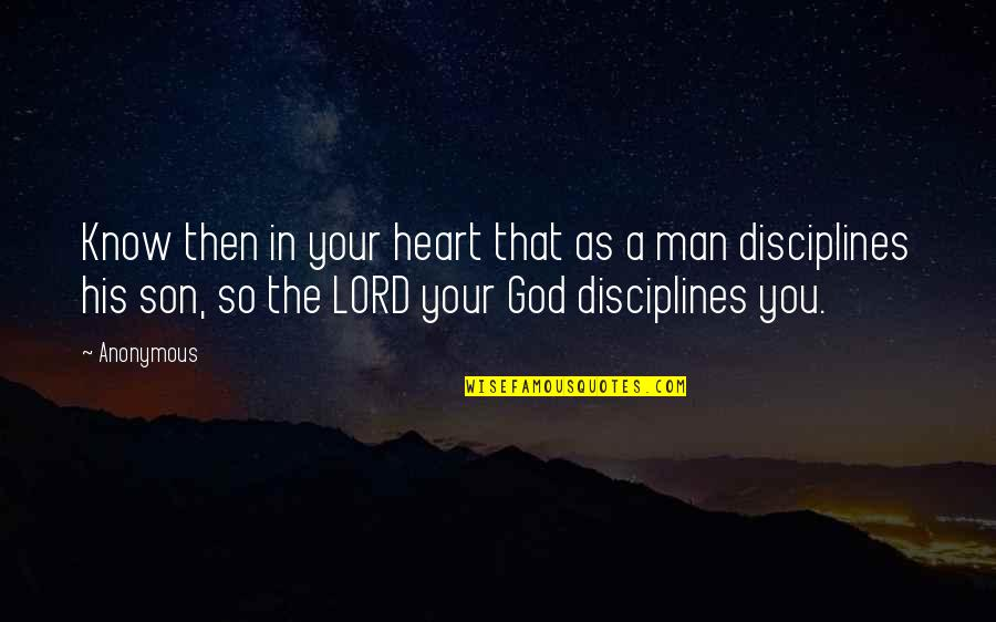 God Know Your Heart Quotes By Anonymous: Know then in your heart that as a