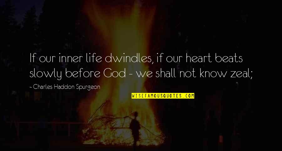 God Know Your Heart Quotes By Charles Haddon Spurgeon: If our inner life dwindles, if our heart